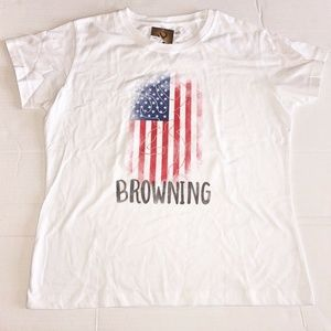 Women's Browning Large Flag Shirt w/ Buckmark